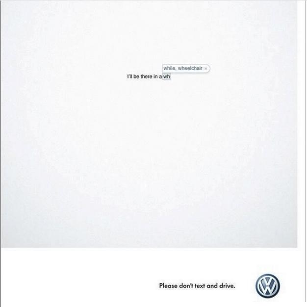 حین رانندگی پیامک ننویسید: Volkswagen